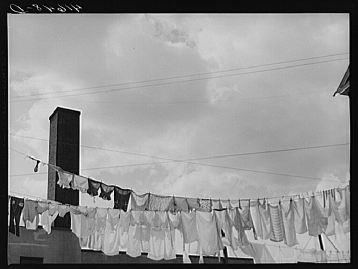 10. Clothes hanging out to dry.