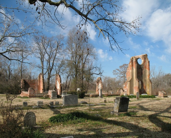 10. Ruins of St. John's Episcopal Church, Glen Allan