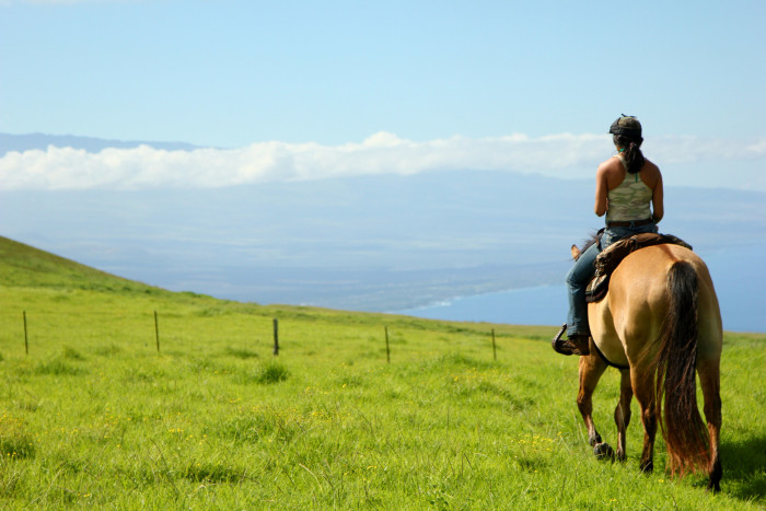 10. There is little better way to connect with nature and relax than to go horseback riding in Hawaii.