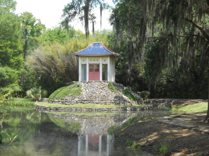 There is even a pagoda shrine to a centuries-old Buddha, gifted to the McIlhenny famiy in 1936.