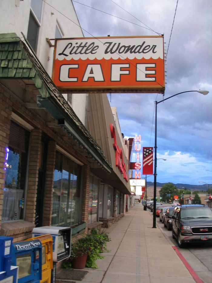 3. You can eat your breakfast at the local cafe like this one in Richfield.