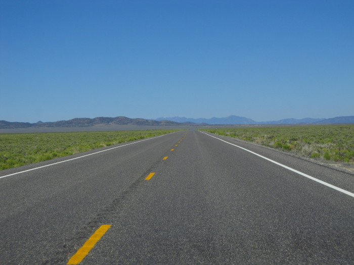 2. Taking one of Nevada's long scenic routes and getting lost.
