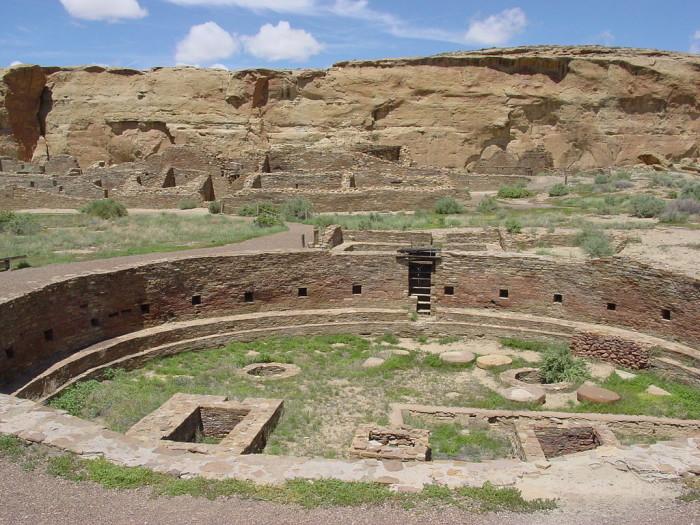 12. The Chaco Canyon complex, near Nageezi