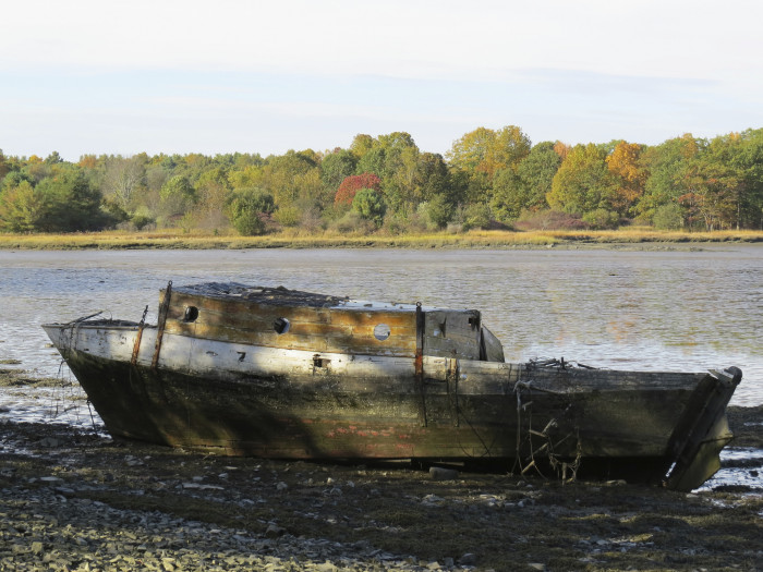 2. This old boat has almost become part of the landscape.