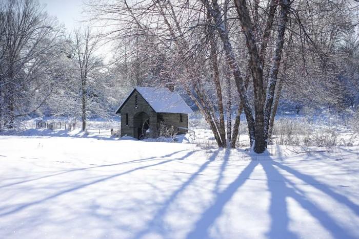 2. Take a walk through a winter wonderland.