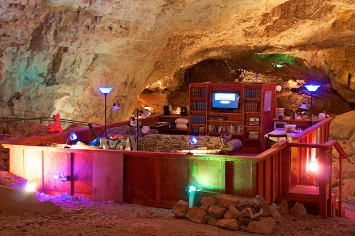 9. Underground suite at Grand Canyon Caverns