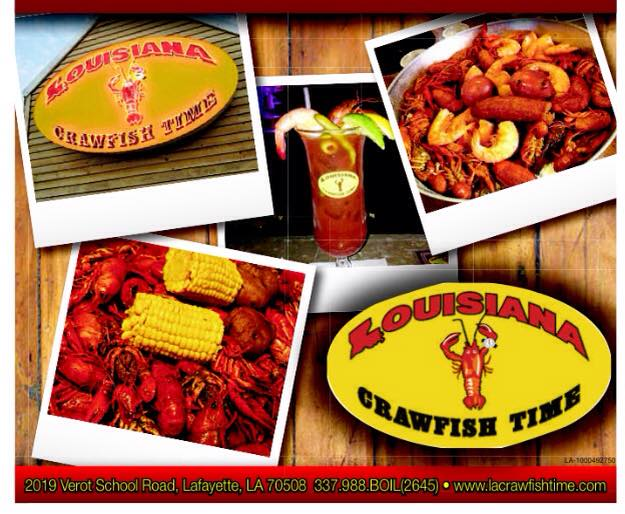2. Louisiana Crawfish Time, Lafayette
