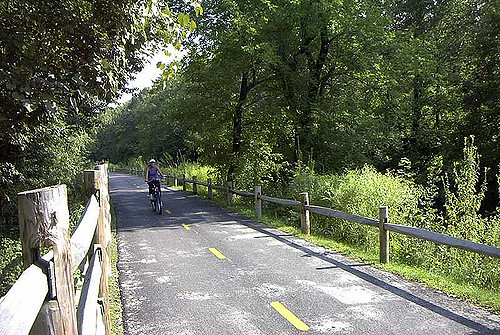 The Blackstone Valley Bike Path and other nature trails: