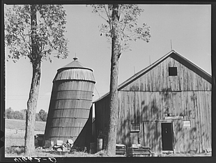 11. The leaning silo.