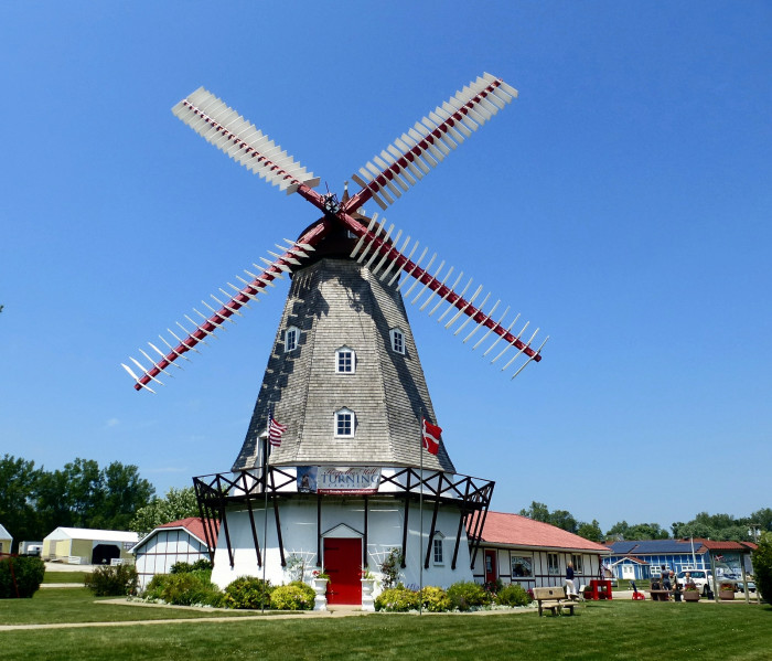 10. The only working Danish windmill in the country, Elk Horn