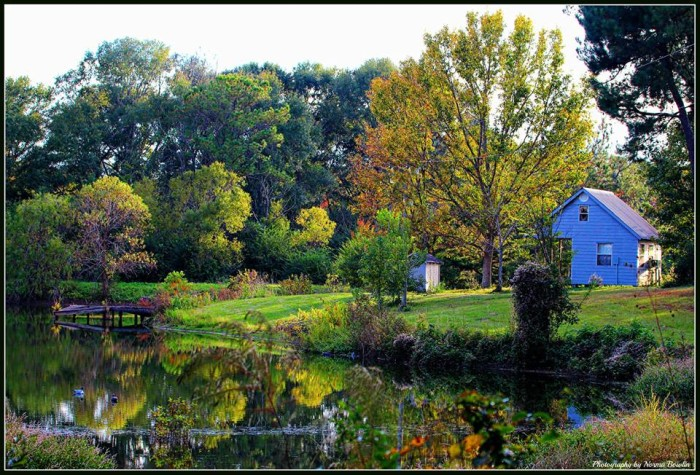 11. Taken in Pike County, a quaint cottage is surrounded by scenery that is nothing short of magnificent.