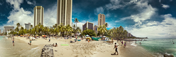 11) Waikiki Beach was a swamp until the 1920s, when sand was shipped in to create the beach.