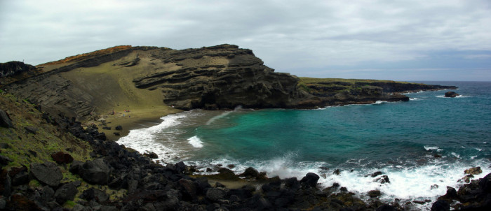 11. As will Papakolea, Hawaii's green sand beach at the southernmost point in the United States.