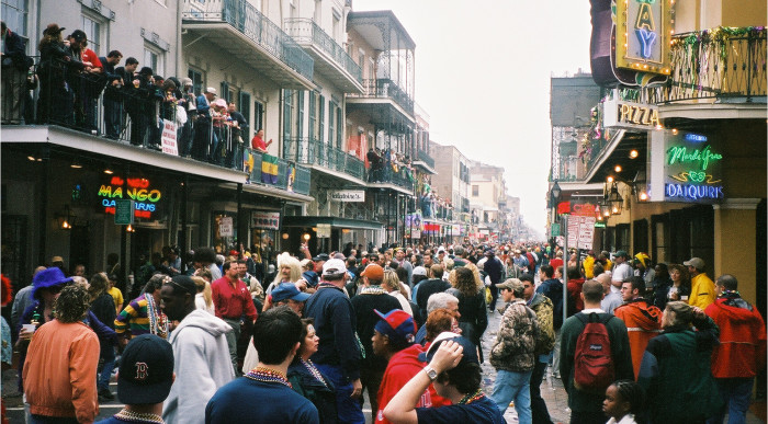12. Dance on Bourbon Street on Mardi Gras Day