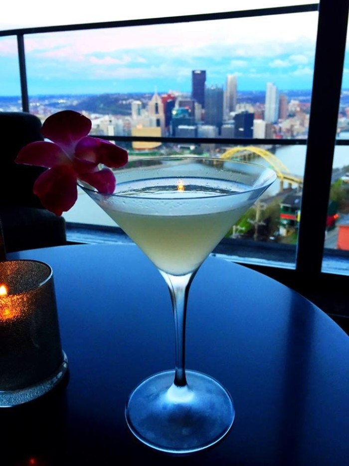 5. Gaze upon a stunning cityscape while you dine in style with your date.