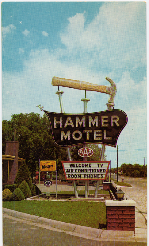 1. The Hammer Motel sign, complete with a giant hammer and nails, was a fun sight in Kearney in the 1950s.
