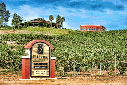 2. Falkner Winery, located in the hills of Temecula, is an elegant place to sip and sample some vino on your SoCal wine tour.