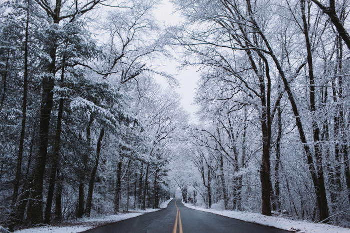 7. A winter wonderland drive in western Massachusetts.