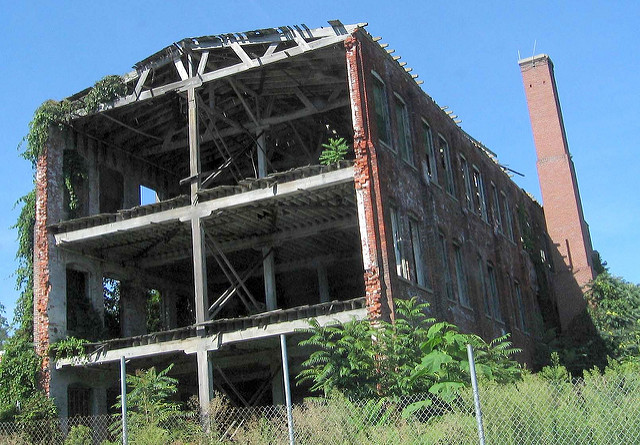 10. You can see right into this abandoned mill in Columbia.