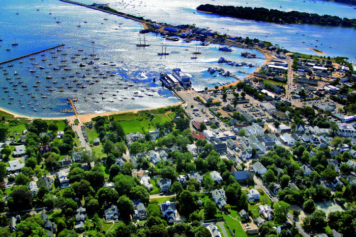8. An incredible aerial view of Vineyard Haven harbor.