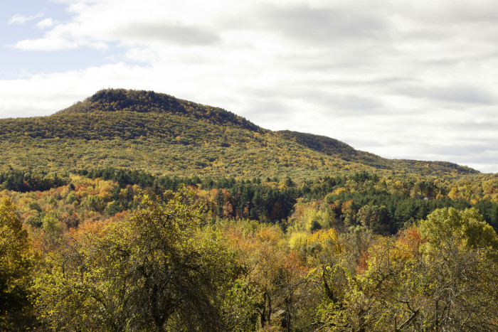 9. An autumn warmth spreads over Mt. Norwottuck in Granby.