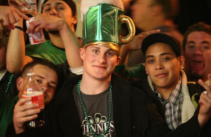 3. Irish spirit on St. Patrick's Day.