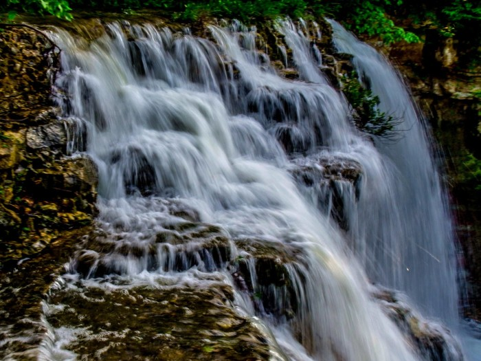 2. Geary State Lake Waterfall (Junction City)