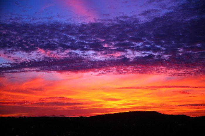 6.  The brilliant colors in the Santa Barbara sky are so unreal it looks like it could be a painting.