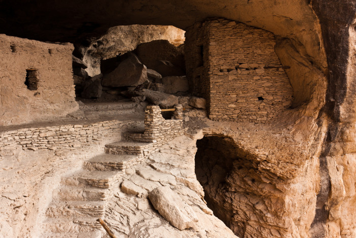 4. The Gila Cliff Dwellings, in the Gila Wilderness