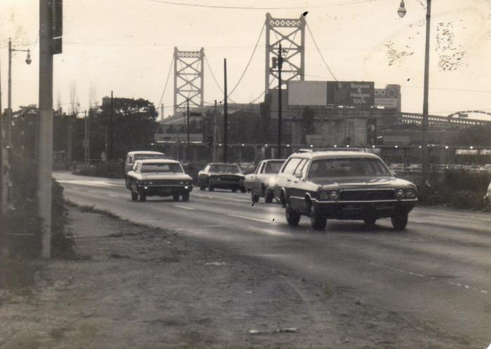 3. Camden circa 1975-1976. The Ben Franklin Bridge is in the background.