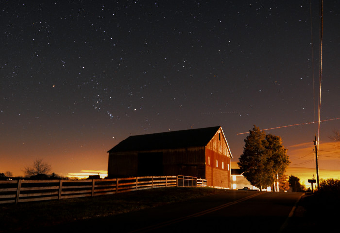 1) The amazing stars give this rural Maryland scene a touch of magic.