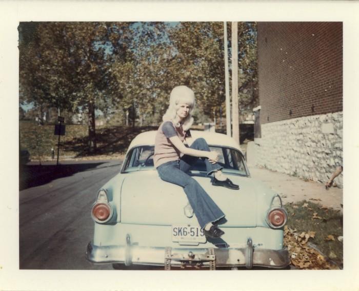 11. Girl on car, St. Louis 1973