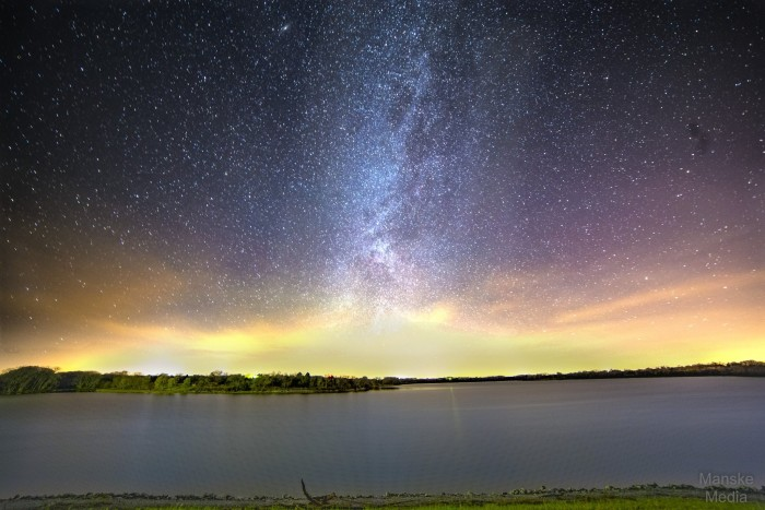 1. Stars provide the most magical skyline of all in this shot over Bluestem Lake.