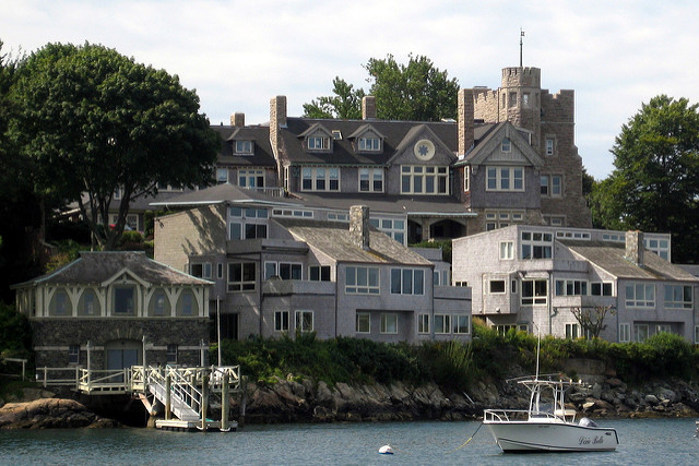 1 Beachbound Castle: This Newport castle, which is now a gated community, was completed in 1895.