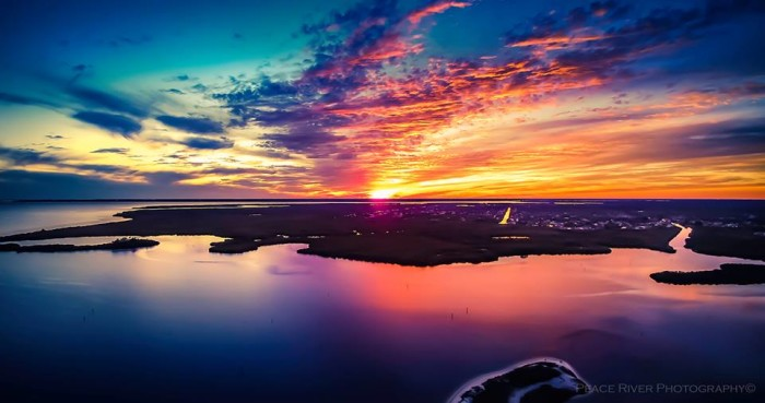 4. Aerial view of Charlotte Harbor at sunset