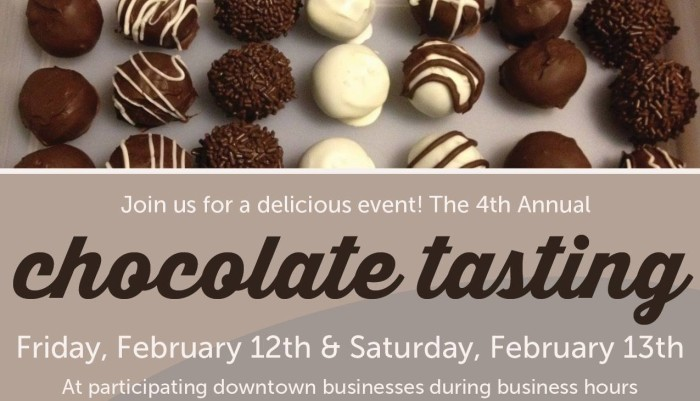 6. The fourth annual Atchison Chocolate Tasting