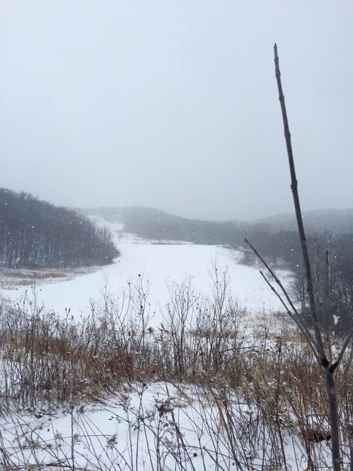 3. Fort Ridgely State Park is a snow-covered dream in the winter - and boasts a pretty sweet sledding hill!