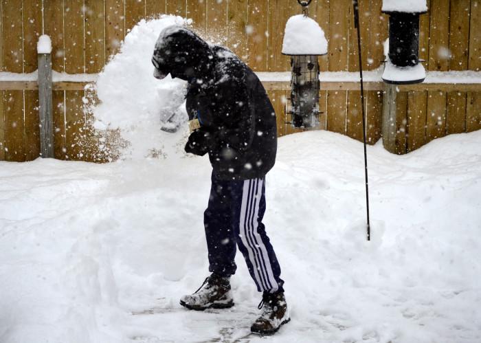 5. Shoveling Snow