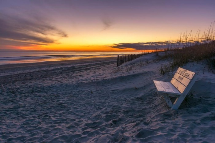 8. A perfect bench to catch a sunset or even sit for a bit in Atlantic Beach.