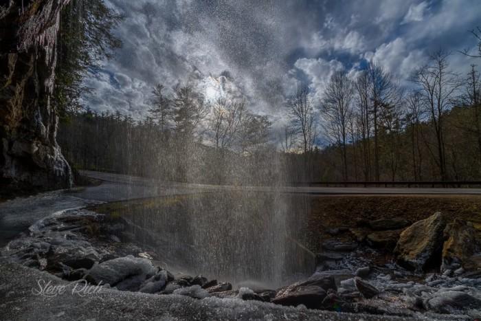 7. Inside look at Bridal Veil Falls by Steve Rich.