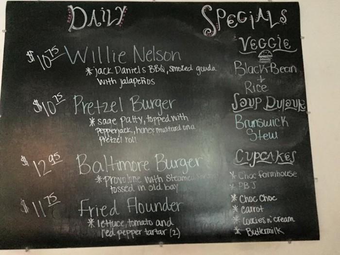 Restaurant 55, Dover, Delaware, burger