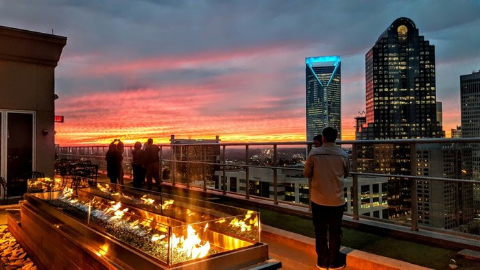 4. If you're in the Queen City grab a delicious dinner with an unbeatable view at Fahrenheit.