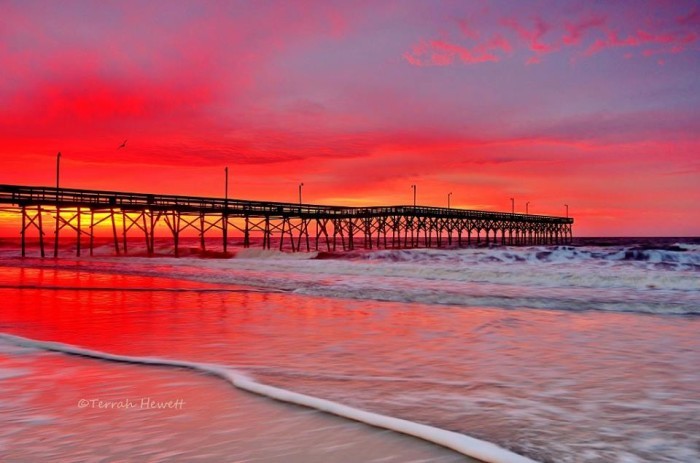9. Holden Beach sky of fire sunrise by Terrah Hewett.