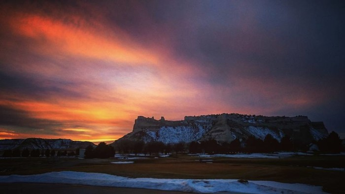 9. Honestly, is there a more spectacular skyline than the one created by the Scotts Bluff National Monument?