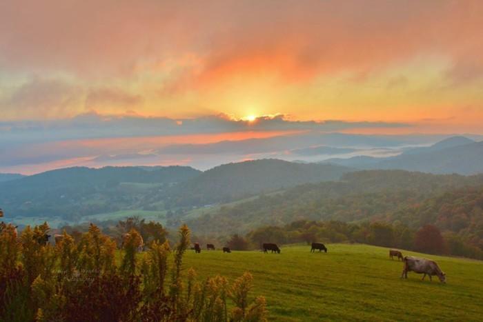 12. A magical Banner Elk sunrise.
