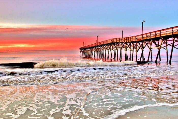 12.  Rainbow sunrise at Holden Beach by Terrah Hewett.