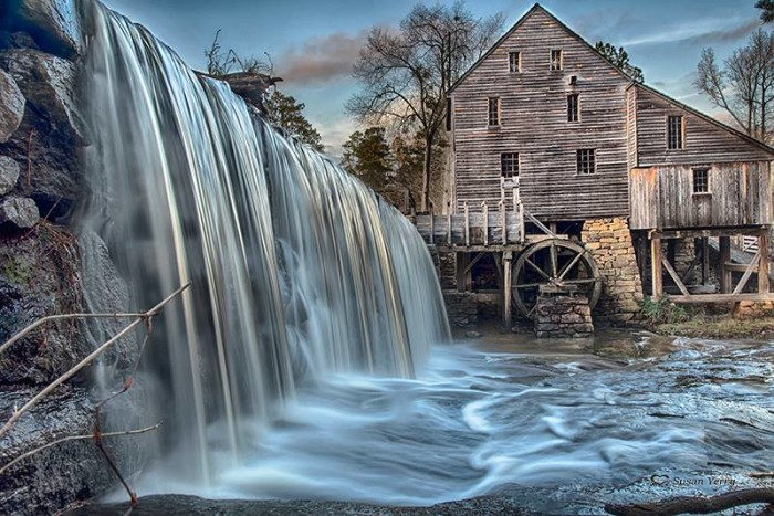 4. Historic Yates Mill in Raleigh by Susan Yerry.