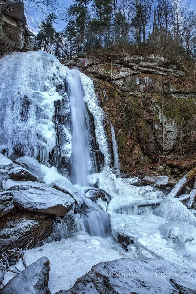 11. High Shoals Falls in winter by Danny Richard Buxton.