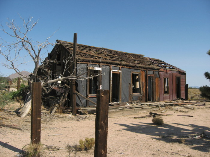 3. An old abandoned building in the town of Cima in the Mojave Desert.