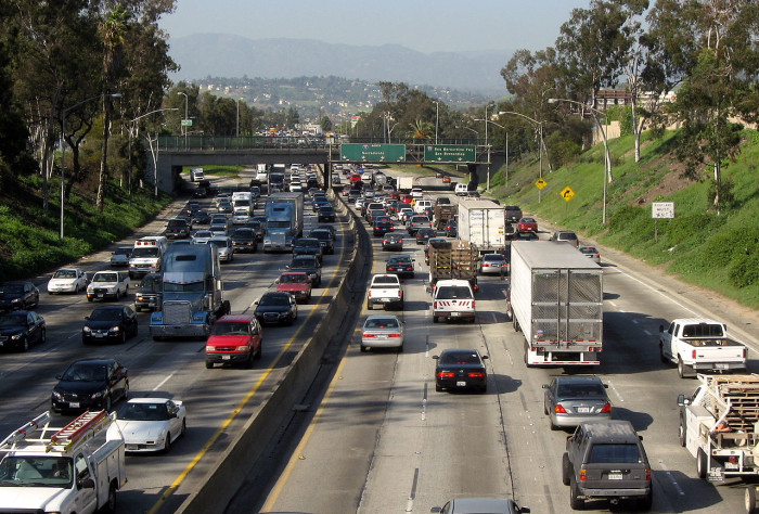6. All we do is talk about traffic and what freeway to take.